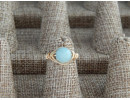Amazonite wire wrap ring